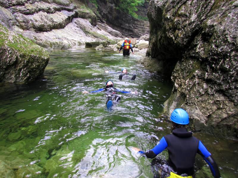 Schwimmen canyoning