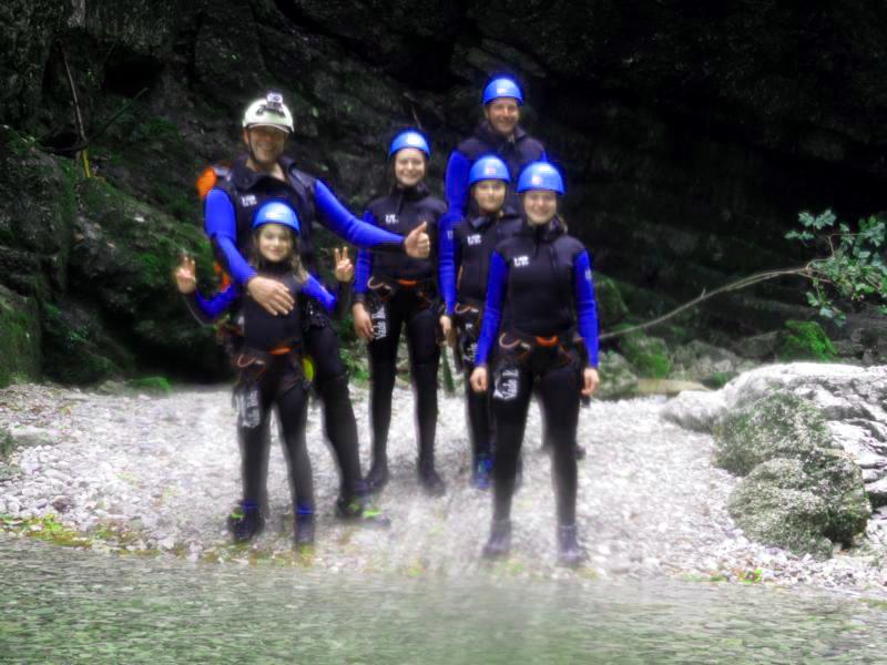 Gruppenbild Canyoning